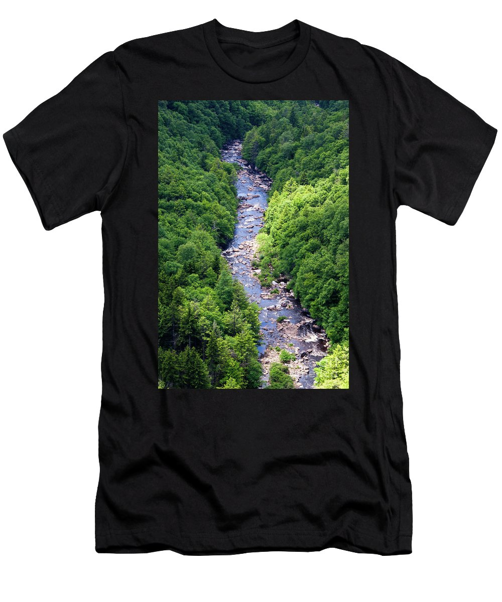 Blackwater Men's T-Shirt (Athletic Fit) featuring the photograph Blackwater Canyon #3 by Kevin Gladwell