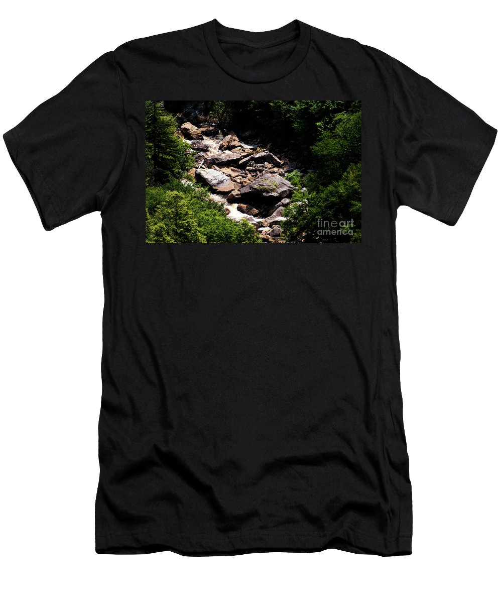 Blackwater Men's T-Shirt (Athletic Fit) featuring the photograph Blackwater Canyon #4 by Kevin Gladwell