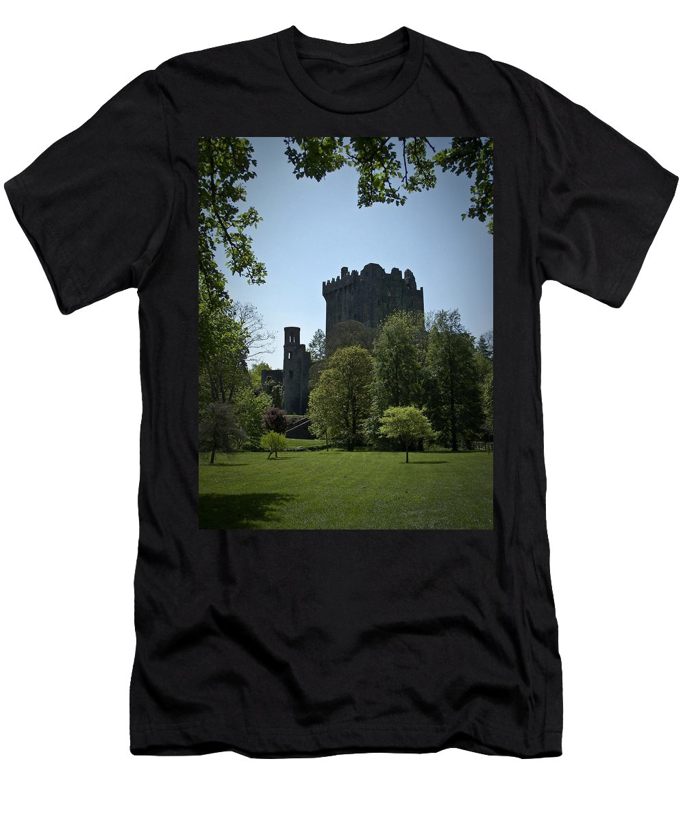 Irish Men's T-Shirt (Athletic Fit) featuring the photograph Blarney Castle Ireland by Teresa Mucha