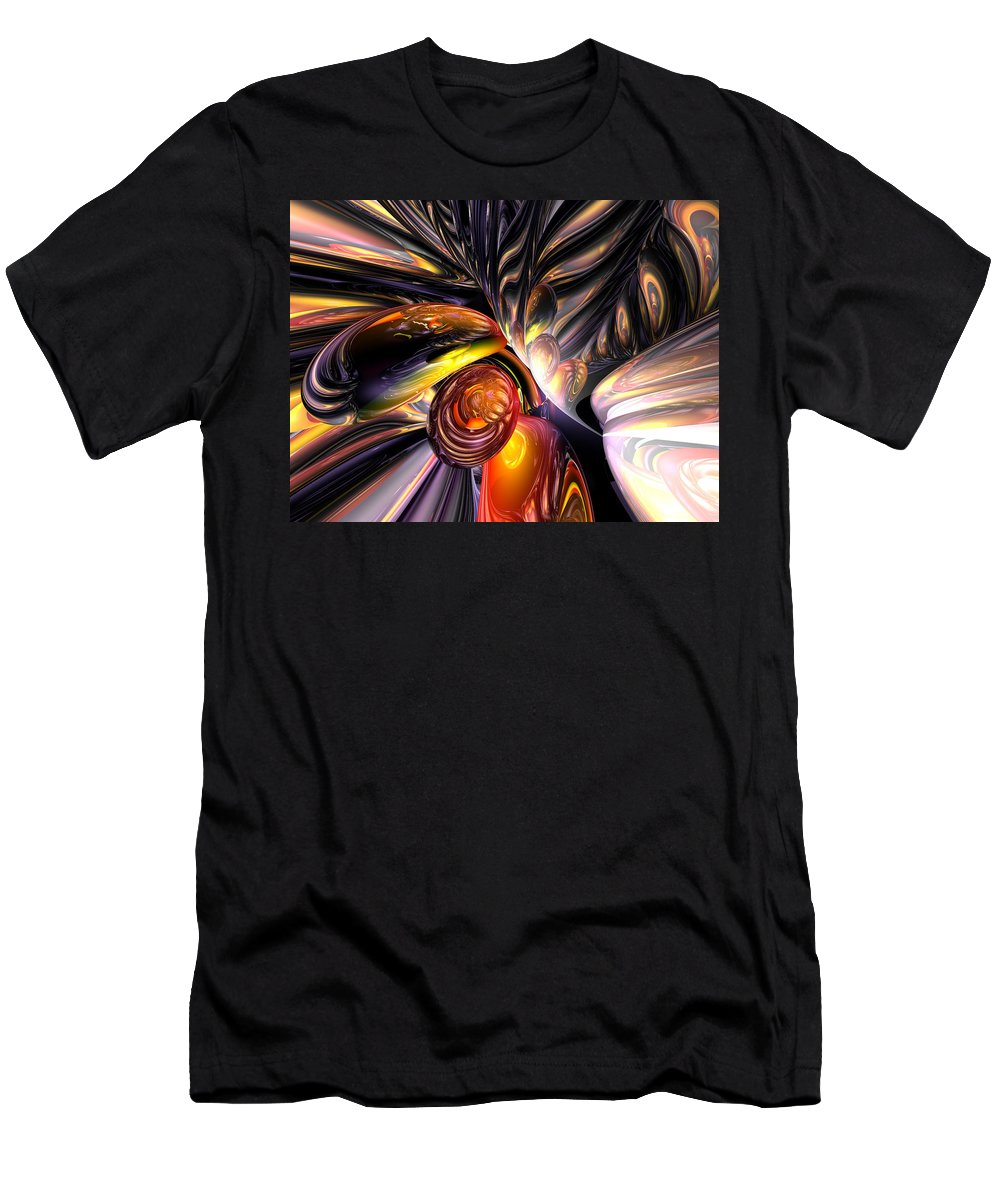 3d Men's T-Shirt (Athletic Fit) featuring the digital art Blaze Abstract by Alexander Butler