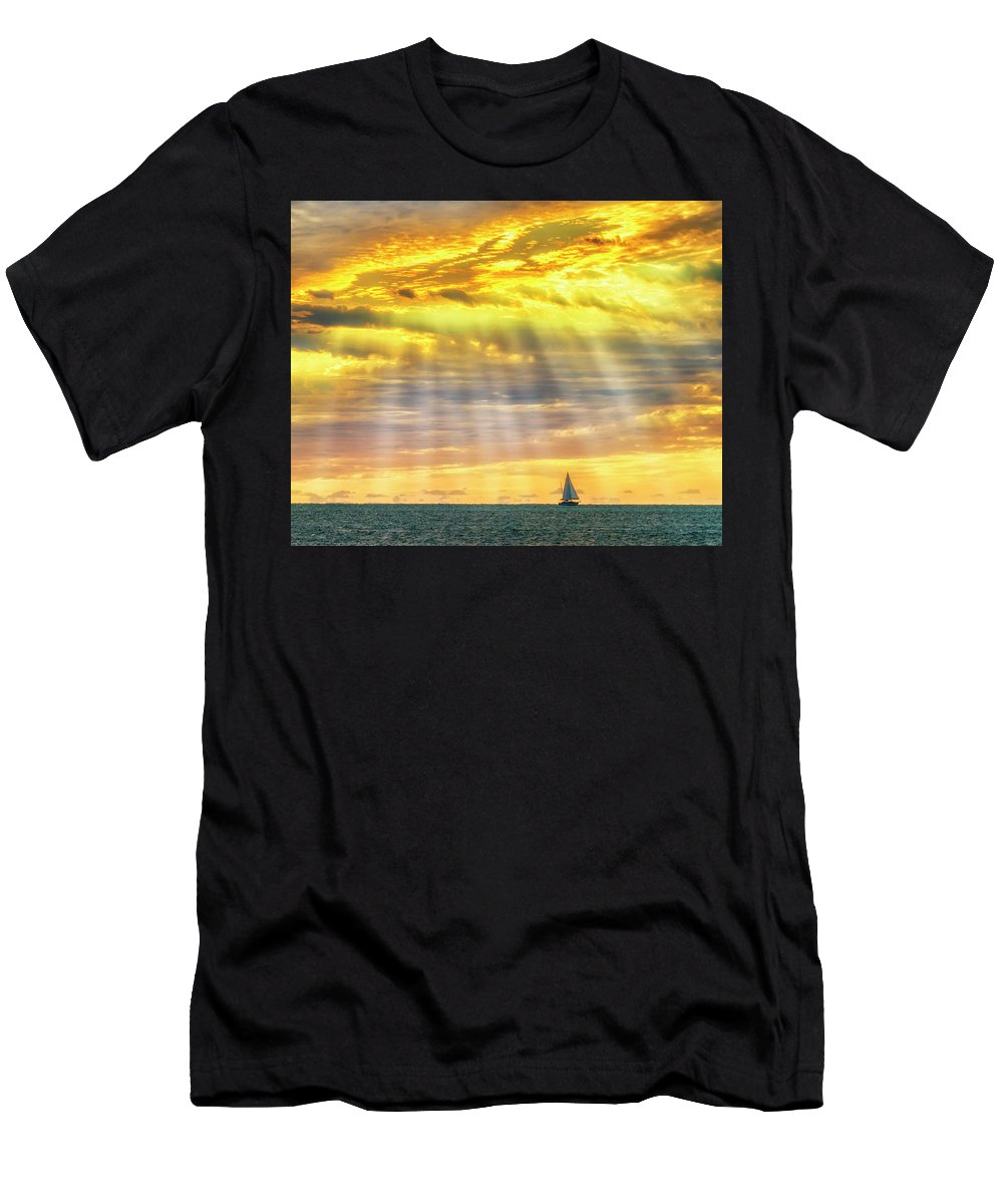 Landscape Men's T-Shirt (Athletic Fit) featuring the photograph Blessings Bestowed 7848 by Karen Celella