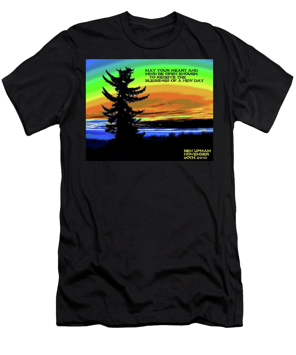 Sunrise Men's T-Shirt (Athletic Fit) featuring the photograph Blessings Of A New Day by Ben Upham III