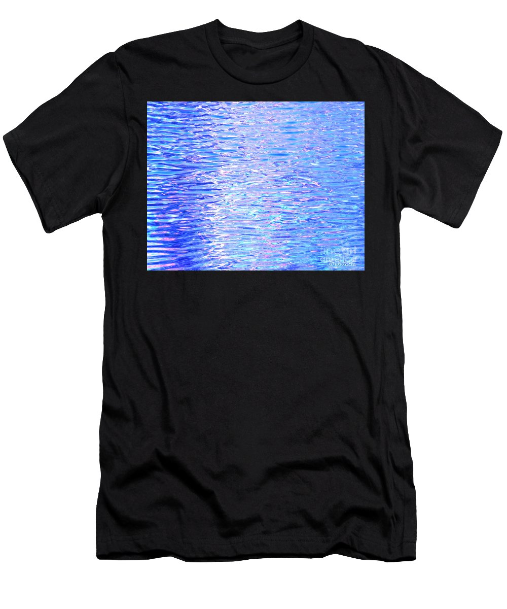 Water Men's T-Shirt (Athletic Fit) featuring the photograph Blissful Blue Ocean by Sybil Staples