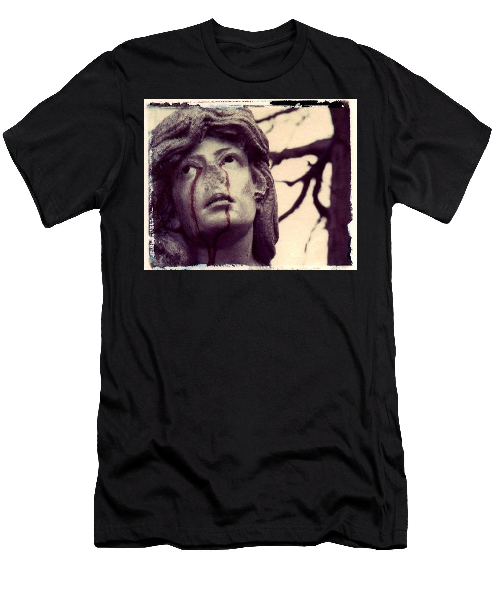 Polaroid Men's T-Shirt (Athletic Fit) featuring the photograph Blood Is The New Black by Jane Linders