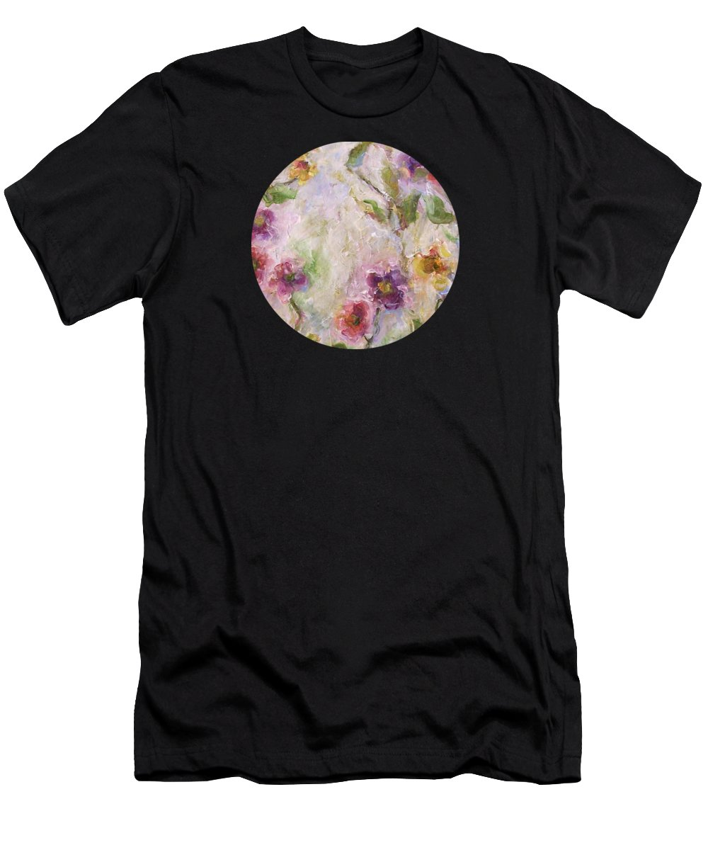 Impressionist Floral Art T-Shirt featuring the painting Bloom by Mary Wolf