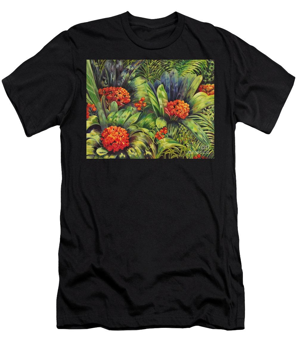 Flowers Men's T-Shirt (Athletic Fit) featuring the painting Blooming Gorgeous by Caroline Street
