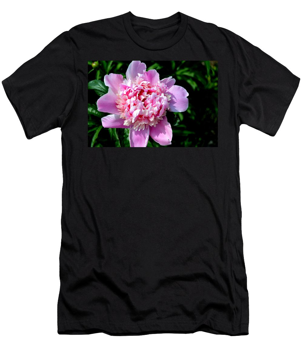 Flower Men's T-Shirt (Athletic Fit) featuring the photograph Blooming Peony by Belinda Stucki