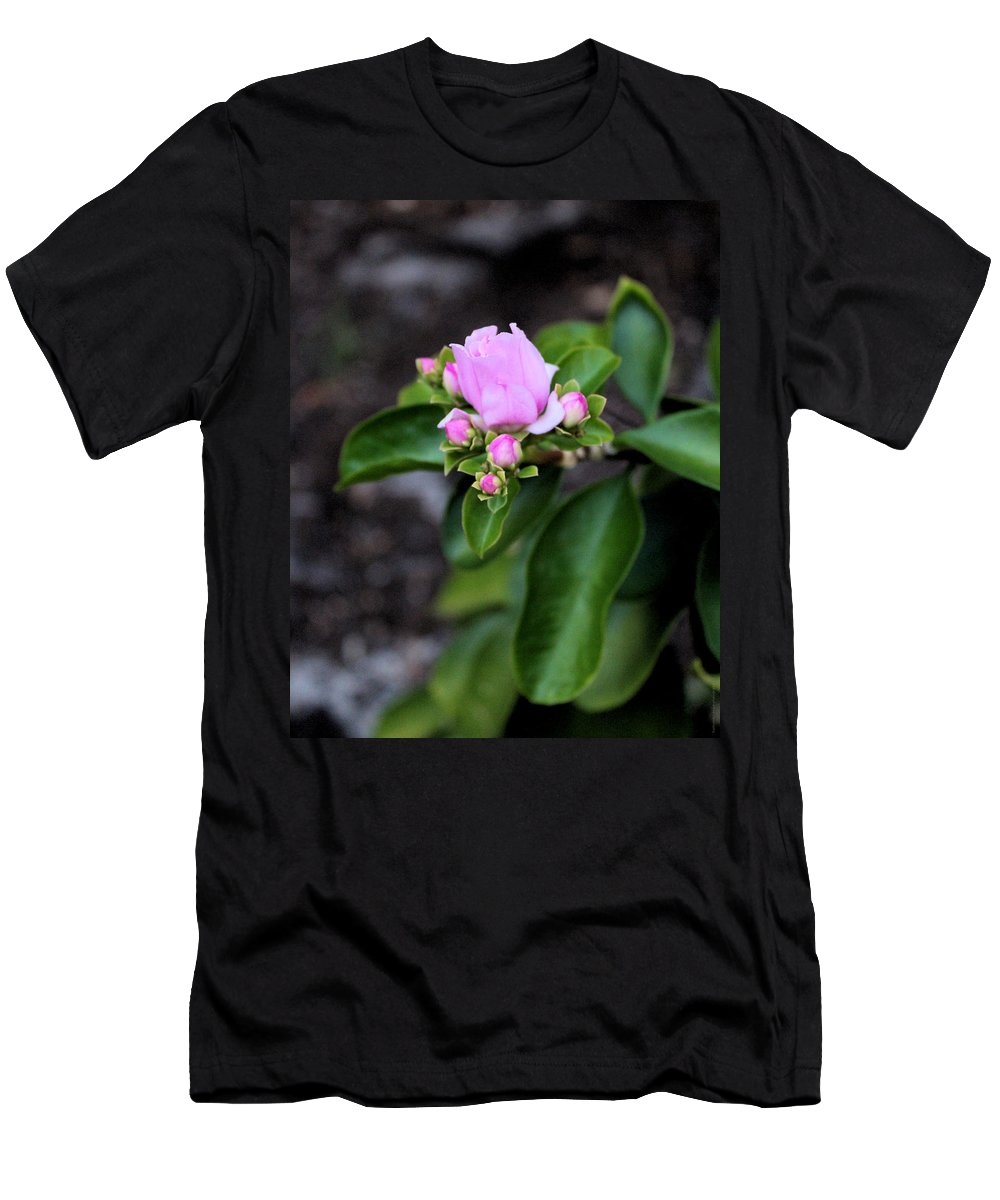 Nature Men's T-Shirt (Athletic Fit) featuring the photograph Blossom In Pink by Traditionally Unique Photography