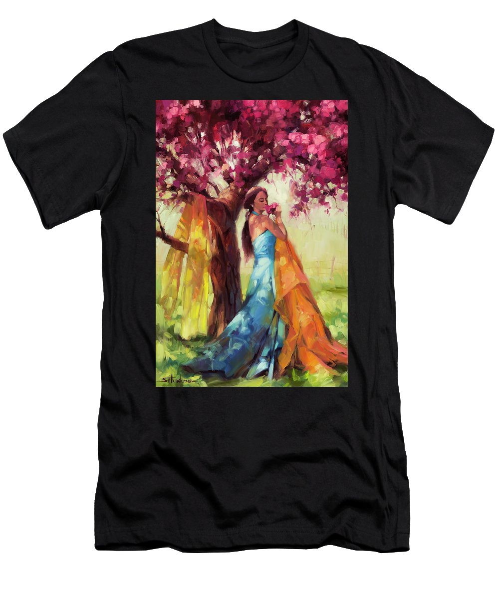 Country Men's T-Shirt (Athletic Fit) featuring the painting Blossom by Steve Henderson