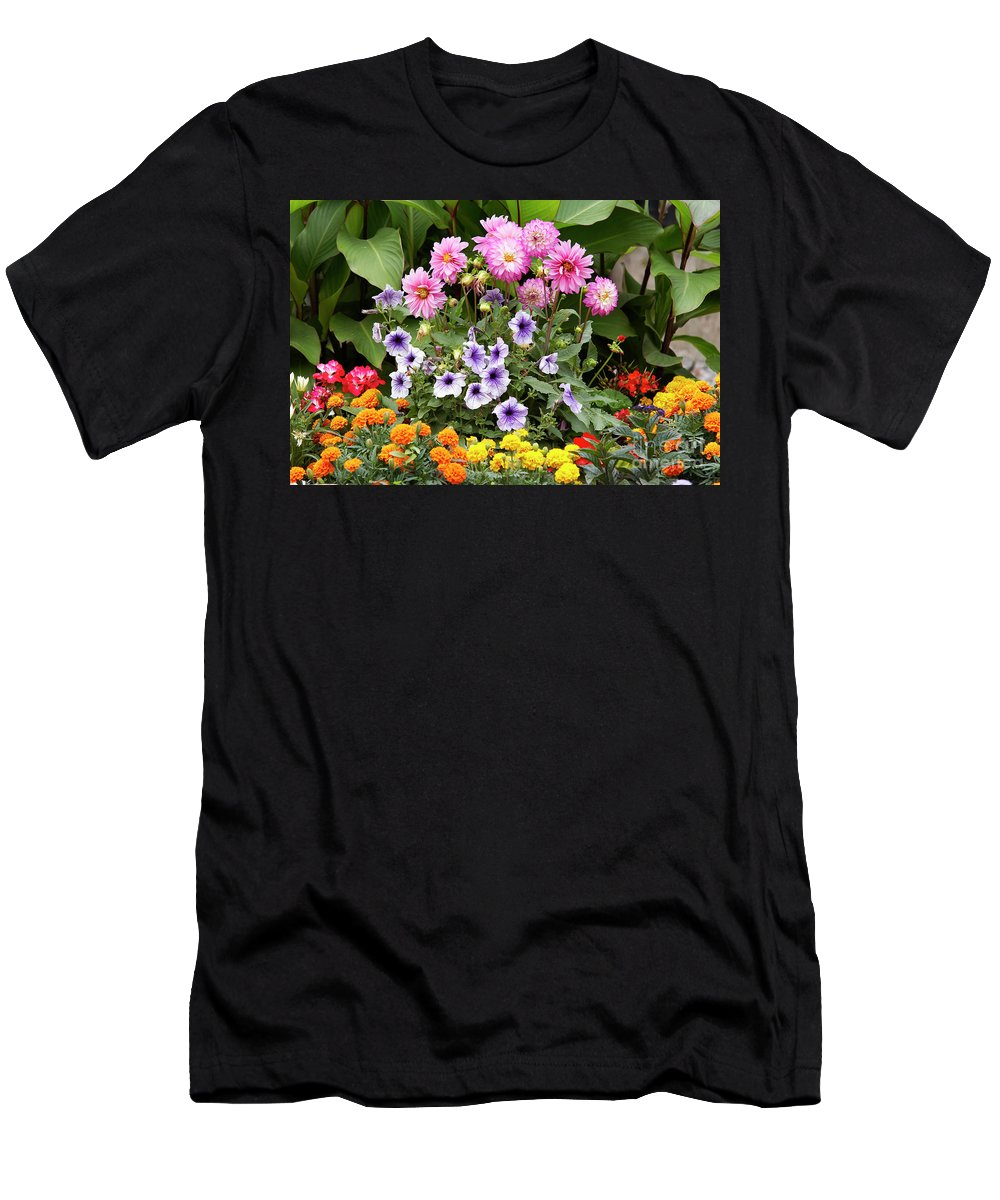 Bouquet Men's T-Shirt (Athletic Fit) featuring the photograph Blossoming Flowers by Michal Boubin