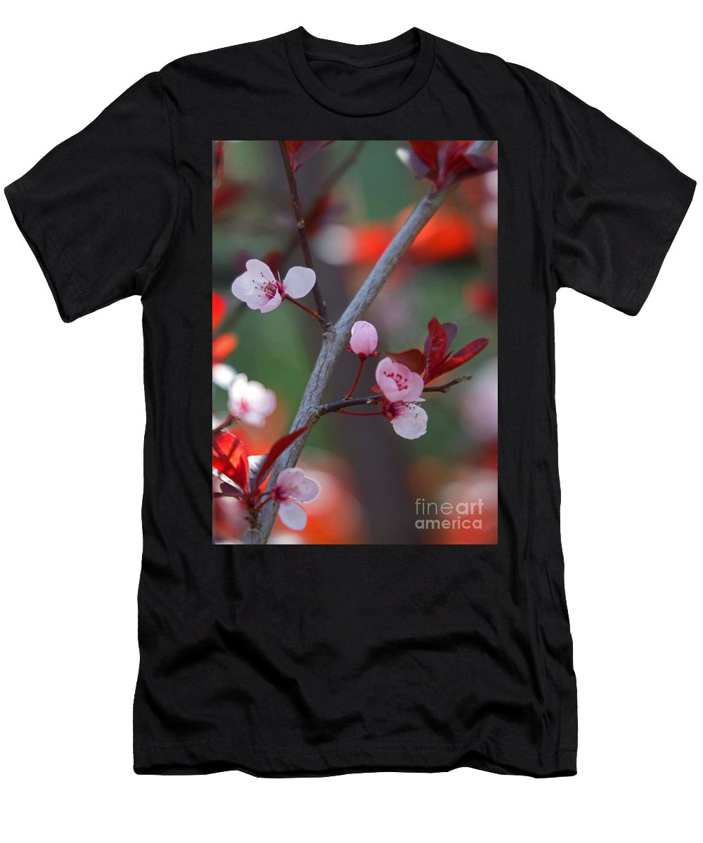 Blossom Men's T-Shirt (Athletic Fit) featuring the photograph Blossoms Petite by Marta Robin Gaughen