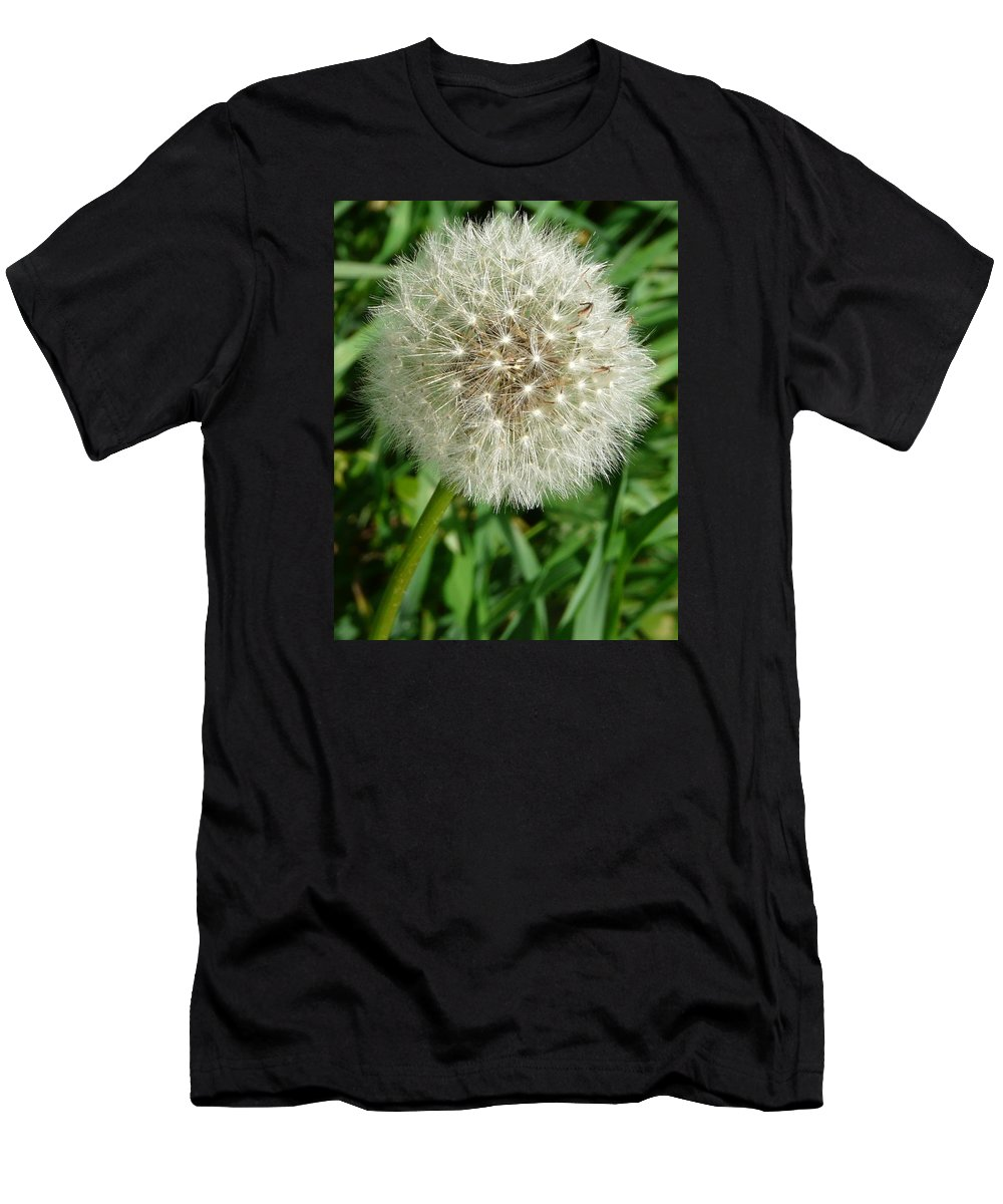 Blowball Men's T-Shirt (Athletic Fit) featuring the photograph Blowball 1 by Valerie Ornstein