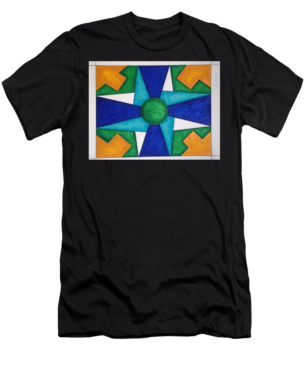Men's T-Shirt (Athletic Fit) featuring the painting Blue Adventure by Qiuna Jiang