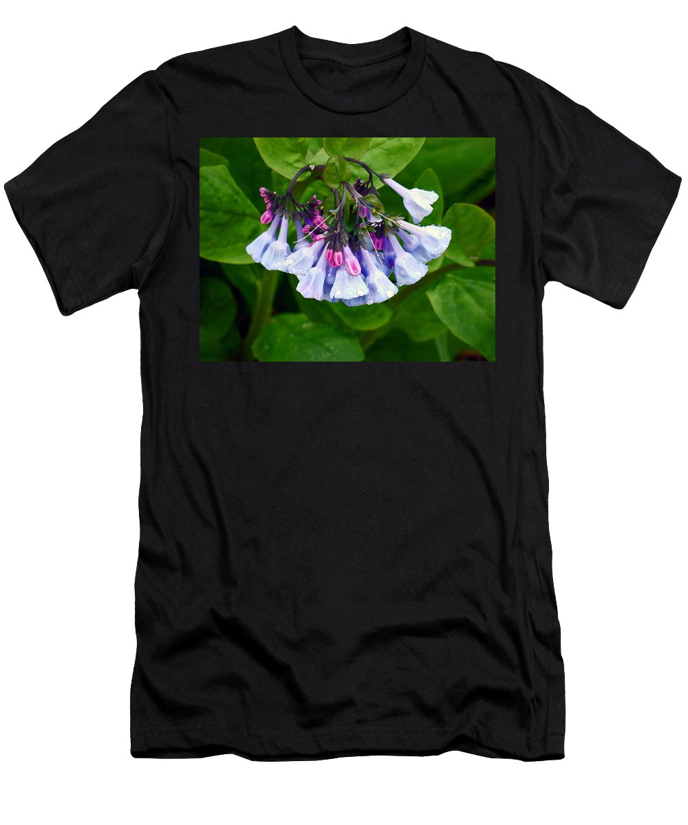 Native Landscape Men's T-Shirt (Athletic Fit) featuring the photograph Blue Bells by Steve Karol