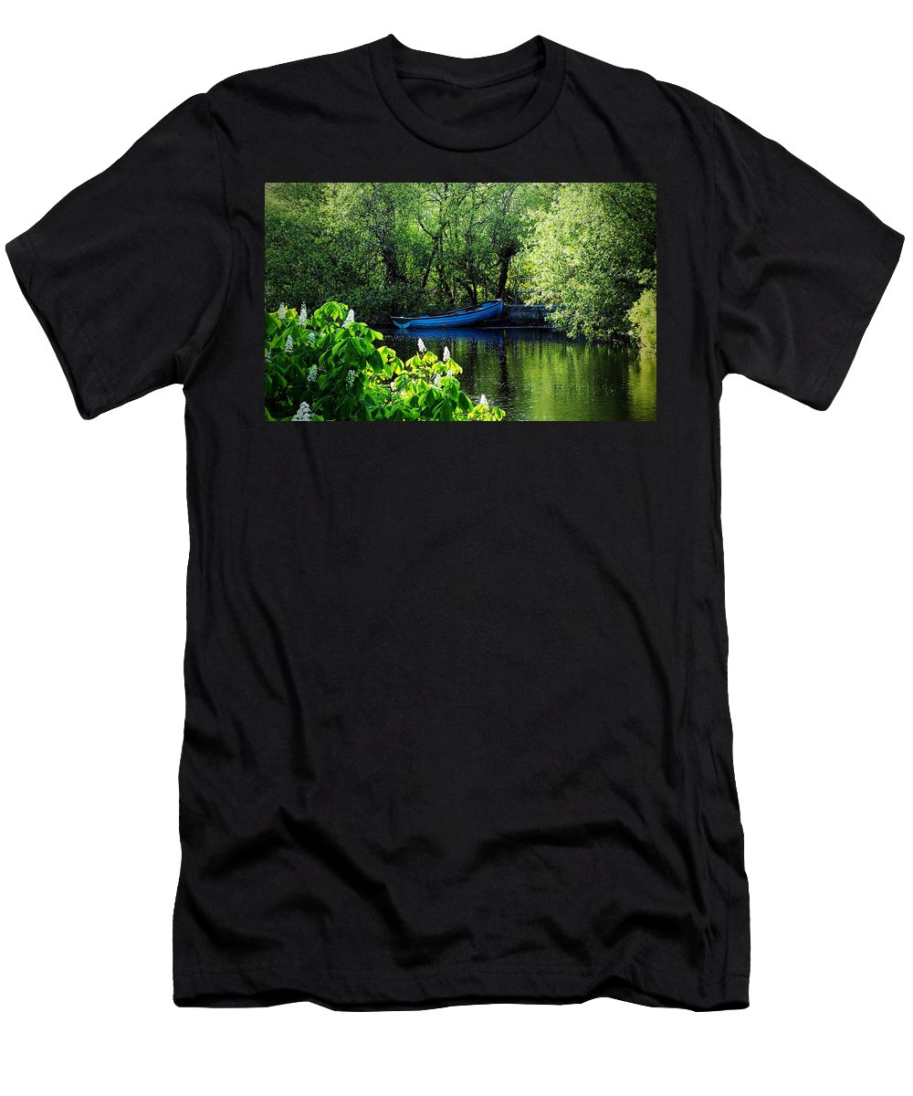 Irish Men's T-Shirt (Athletic Fit) featuring the photograph Blue Boat Cong Ireland by Teresa Mucha
