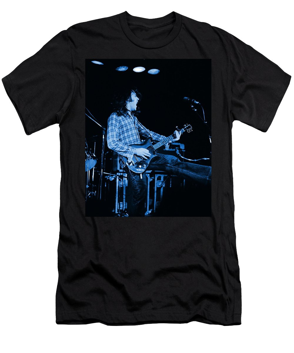 Rock Musicians T-Shirt featuring the photograph Blue Bullfrog Blues by Ben Upham