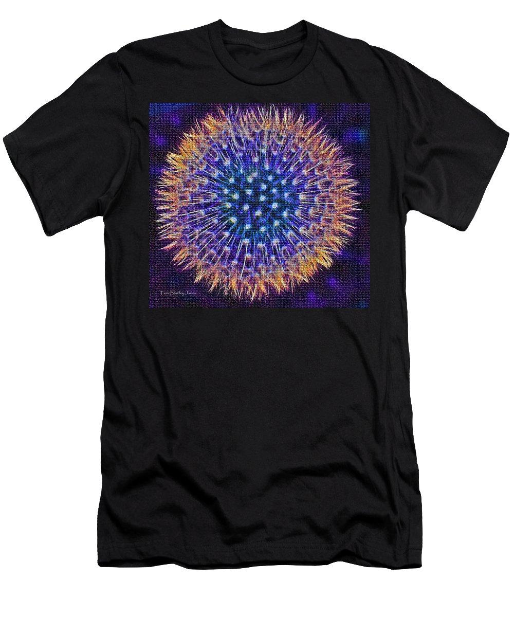 Blue Dandelion Men's T-Shirt (Athletic Fit) featuring the photograph Blue Dandelion by Tom Janca