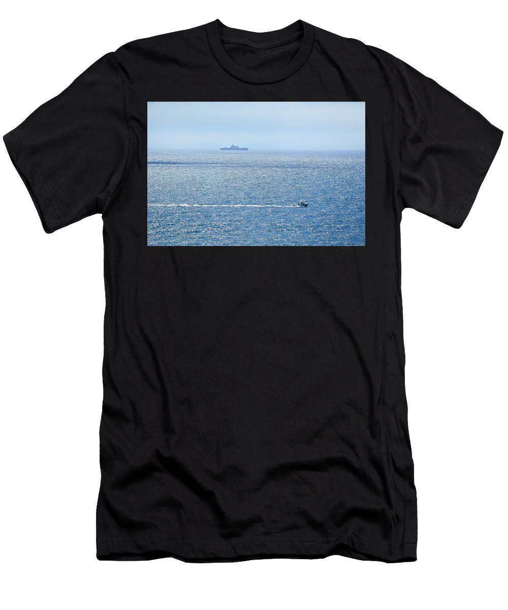 Beach Men's T-Shirt (Athletic Fit) featuring the photograph Blue Dream by Leticia GG