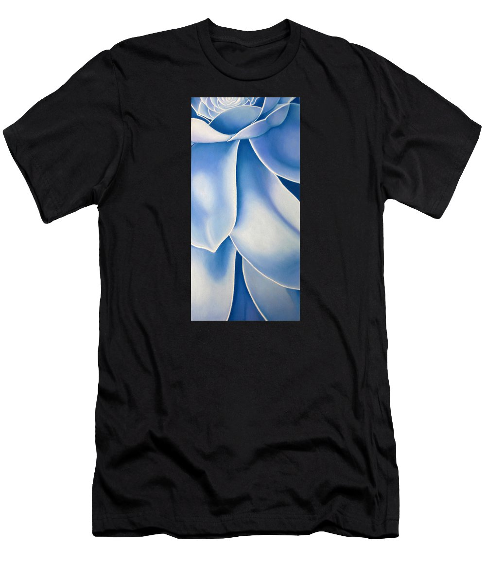 Flowers Men's T-Shirt (Athletic Fit) featuring the drawing Blue Flower by Joshua Morton