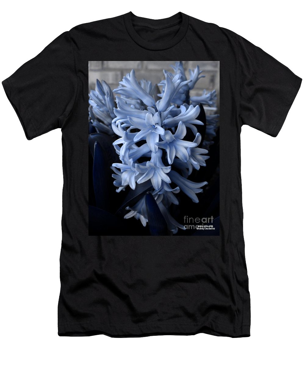 Blue Men's T-Shirt (Athletic Fit) featuring the photograph Blue Hyacinth by Shelley Jones
