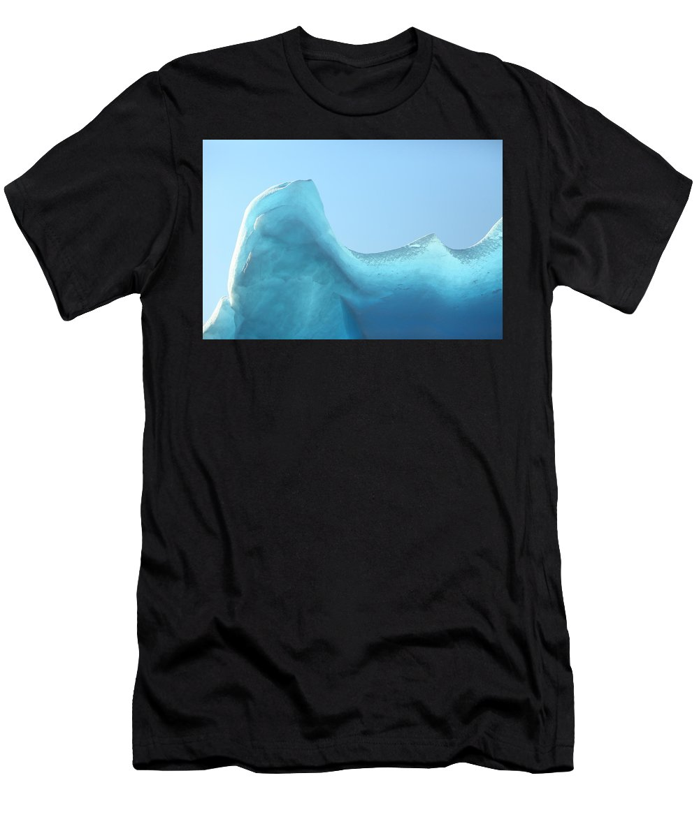 Ice Men's T-Shirt (Athletic Fit) featuring the photograph Blue Ice by Bruce J Robinson