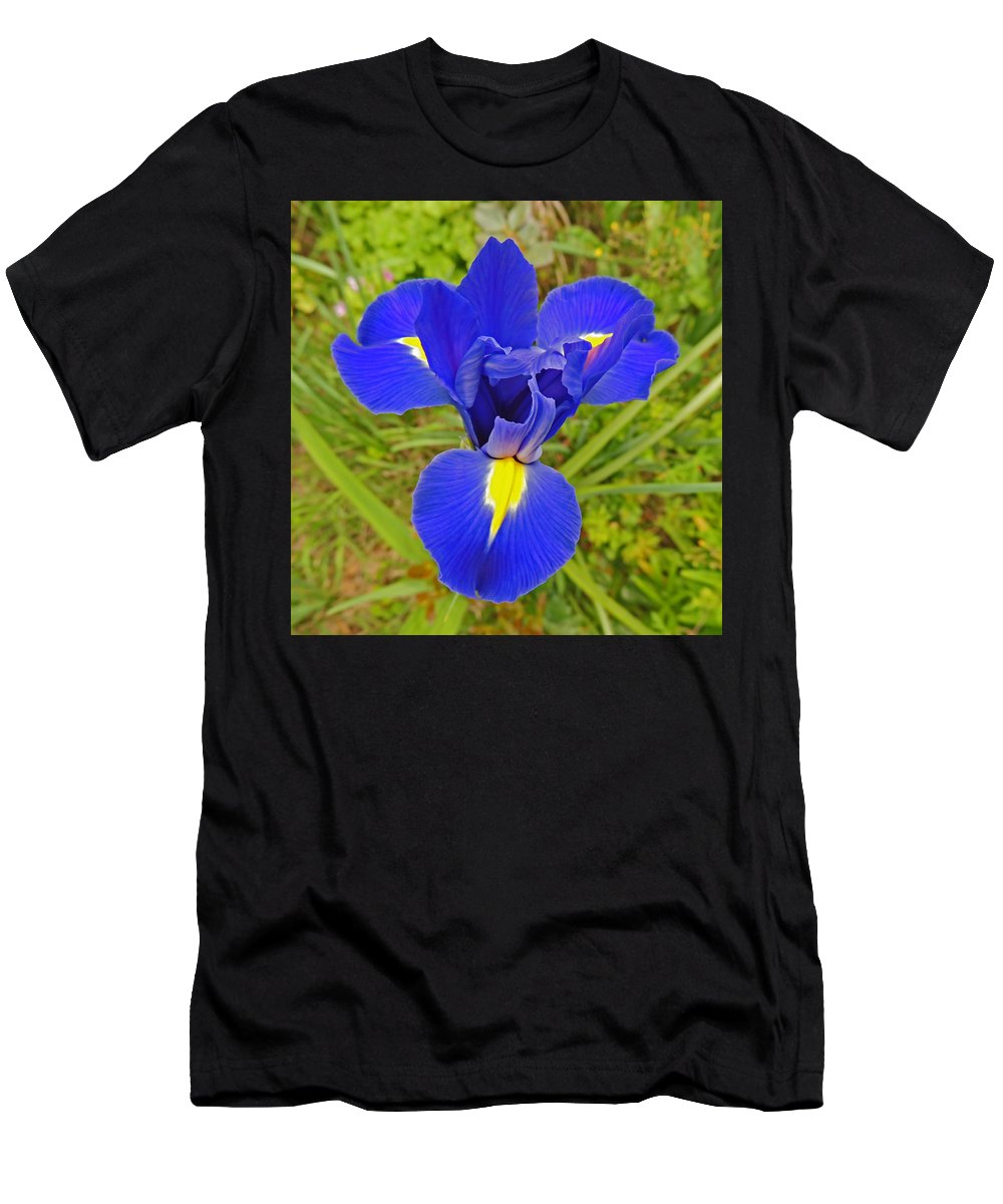Photographic Print Men's T-Shirt (Athletic Fit) featuring the photograph Blue Iris Beauty by Marian Bell