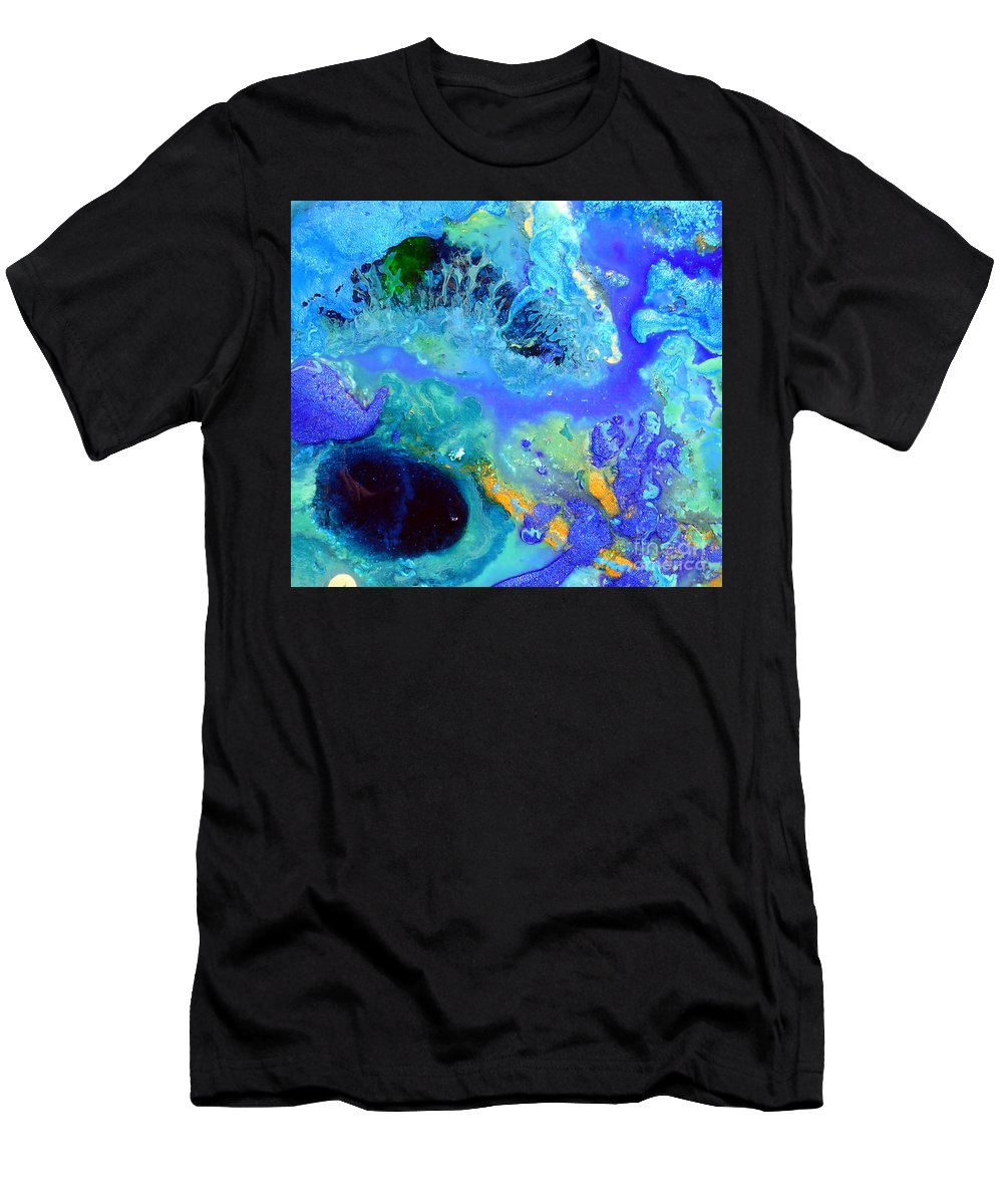 Blue Isles Men's T-Shirt (Athletic Fit) featuring the painting Blue Isles by Dawn Hough Sebaugh