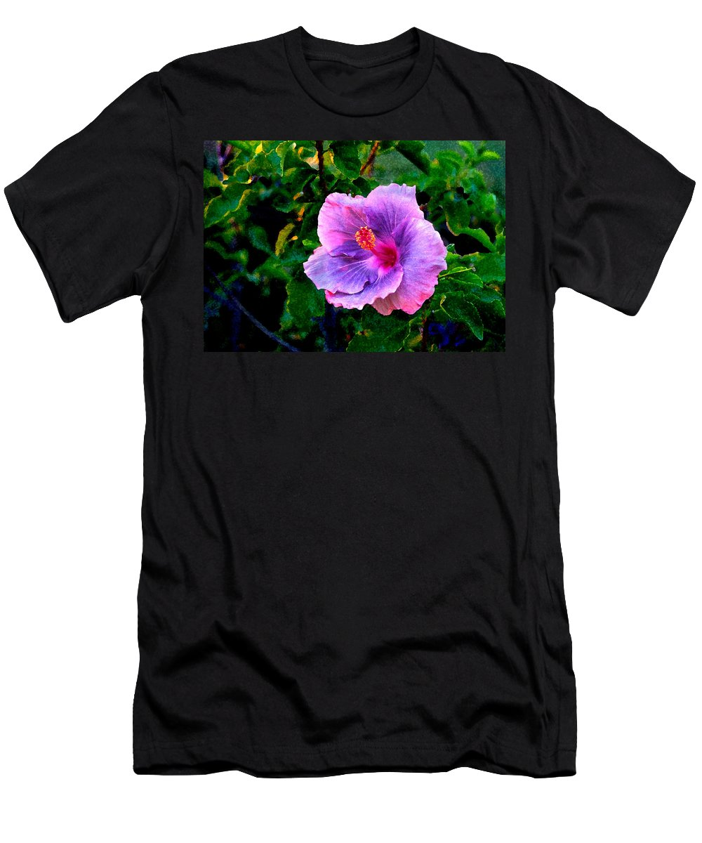 Flower Men's T-Shirt (Athletic Fit) featuring the photograph Blue Moon Hibiscus by Steve Karol