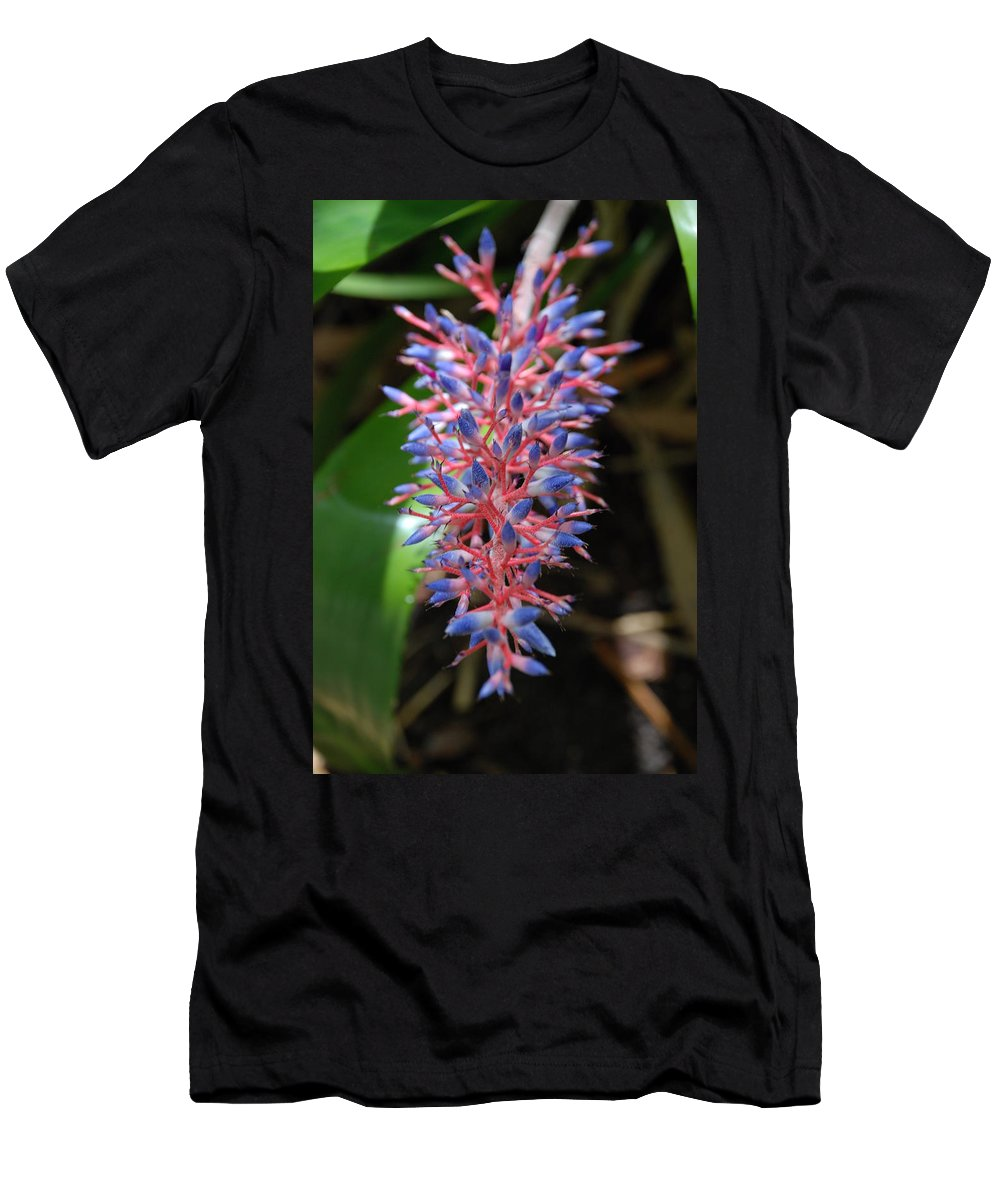 Red Men's T-Shirt (Athletic Fit) featuring the photograph Blue Red Plant by Rob Hans