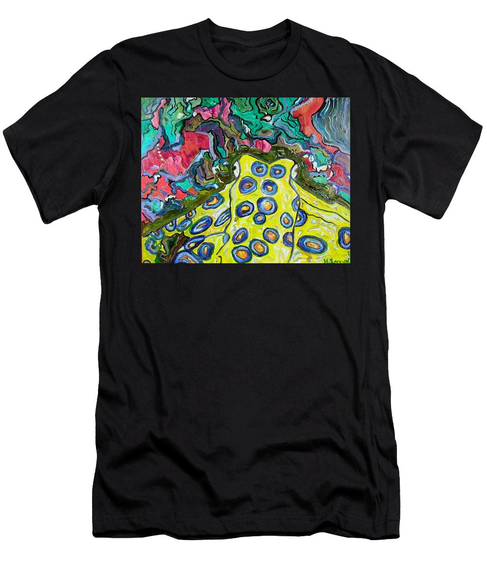Octopus Men's T-Shirt (Athletic Fit) featuring the painting Blue Ringed Octopus by Heather Lennox