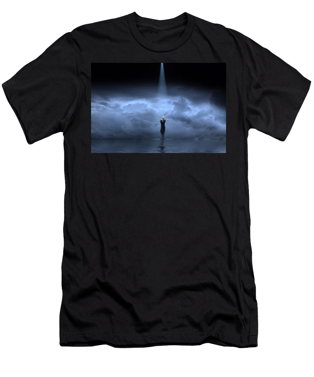 Blue Sky Men's T-Shirt (Athletic Fit) featuring the photograph Blue Sky by Jackie Sajewski