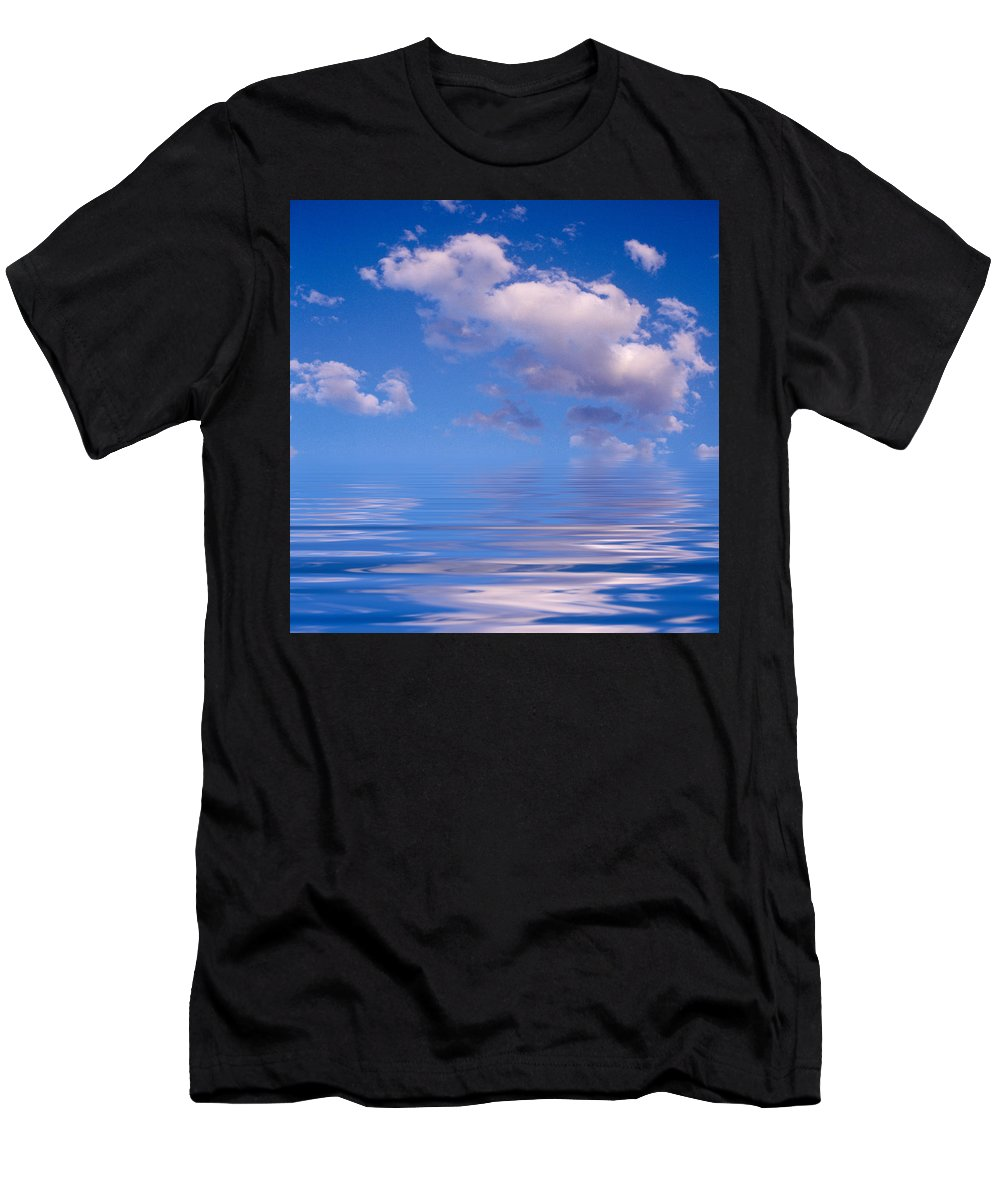 Original Art Men's T-Shirt (Athletic Fit) featuring the photograph Blue Sky Reflections by Jerry McElroy