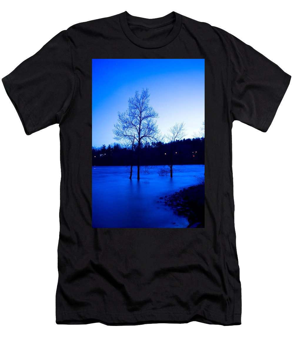 Water Men's T-Shirt (Athletic Fit) featuring the photograph Blue Tide by Greg Fortier
