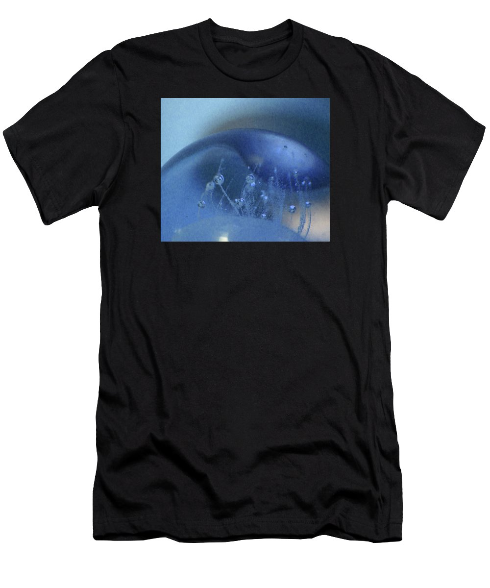 Abstract Men's T-Shirt (Athletic Fit) featuring the photograph Blue Wave 1 by Cecilia Swatton