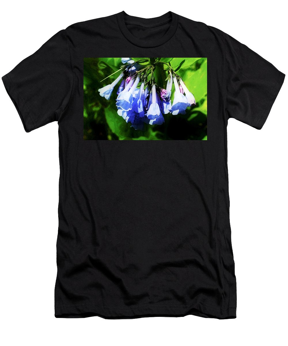 Virginia Bluebell Men's T-Shirt (Athletic Fit) featuring the photograph Bluebell 21 by Galen Puronen