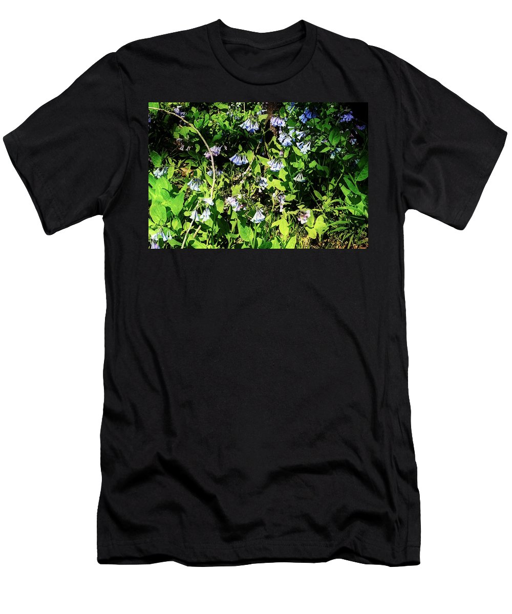 Virginia Bluebell Men's T-Shirt (Athletic Fit) featuring the photograph Bluebell 22 by Galen Puronen