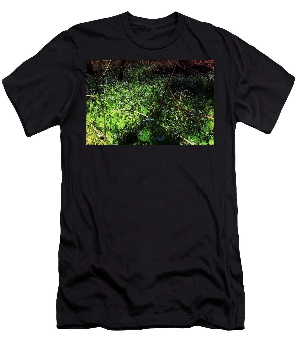 Virginia Bluebell Men's T-Shirt (Athletic Fit) featuring the photograph Bluebell 24 by Galen Puronen