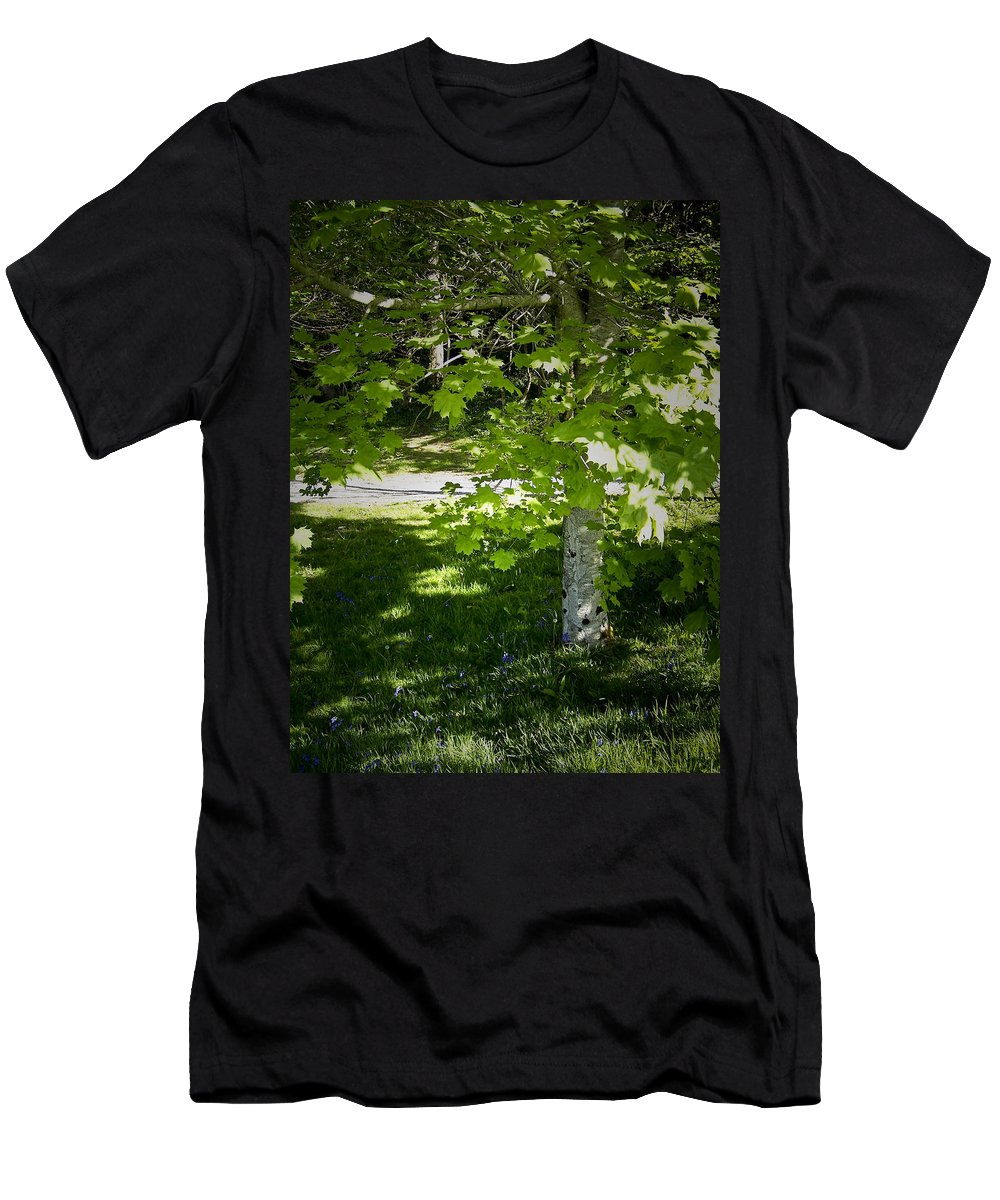 Irish Men's T-Shirt (Athletic Fit) featuring the photograph Bluebells In Killarney National Park Ireland by Teresa Mucha