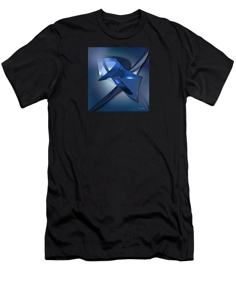 Abstract Men's T-Shirt (Athletic Fit) featuring the digital art Blueberry by Iris Gelbart