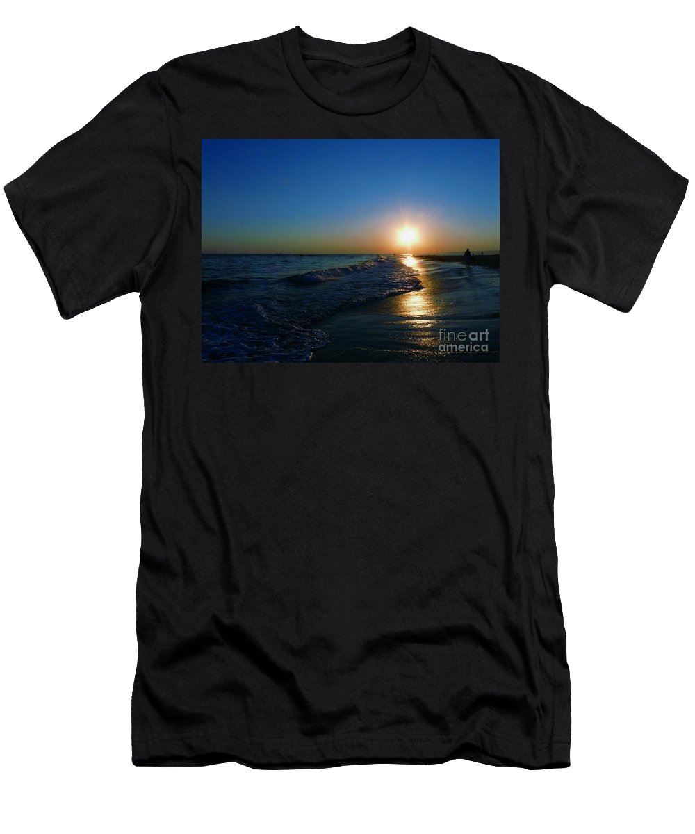 Landscape Men's T-Shirt (Athletic Fit) featuring the photograph Blues In The Evening by Kendall Eutemey