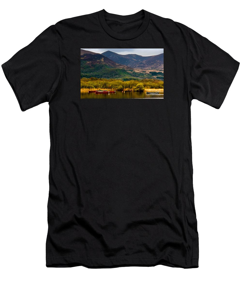 Ireland Men's T-Shirt (Athletic Fit) featuring the photograph Boats At Rest by Amy Sorvillo