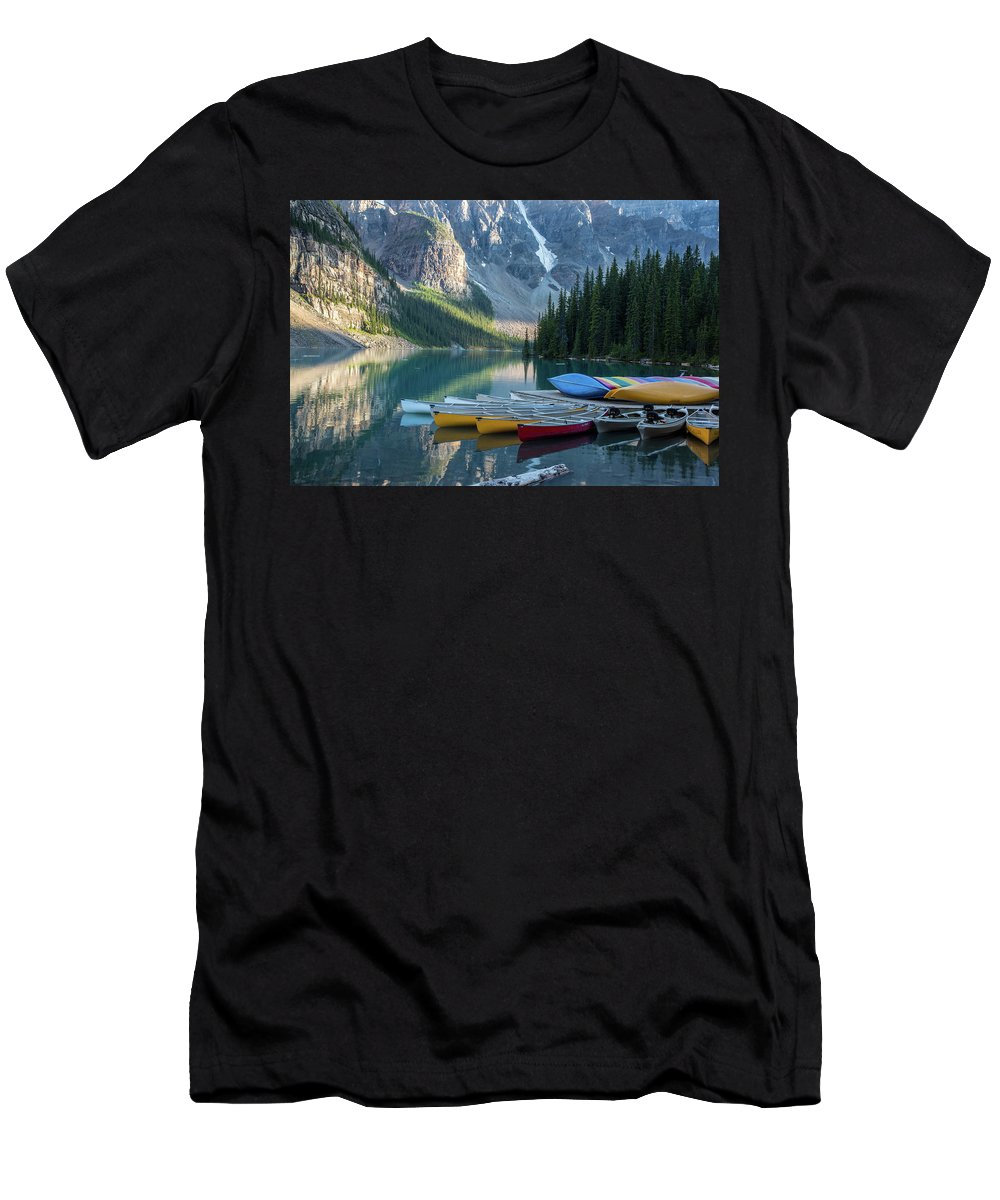 Boats Men's T-Shirt (Athletic Fit) featuring the photograph Boats by Kathy Whitehurst