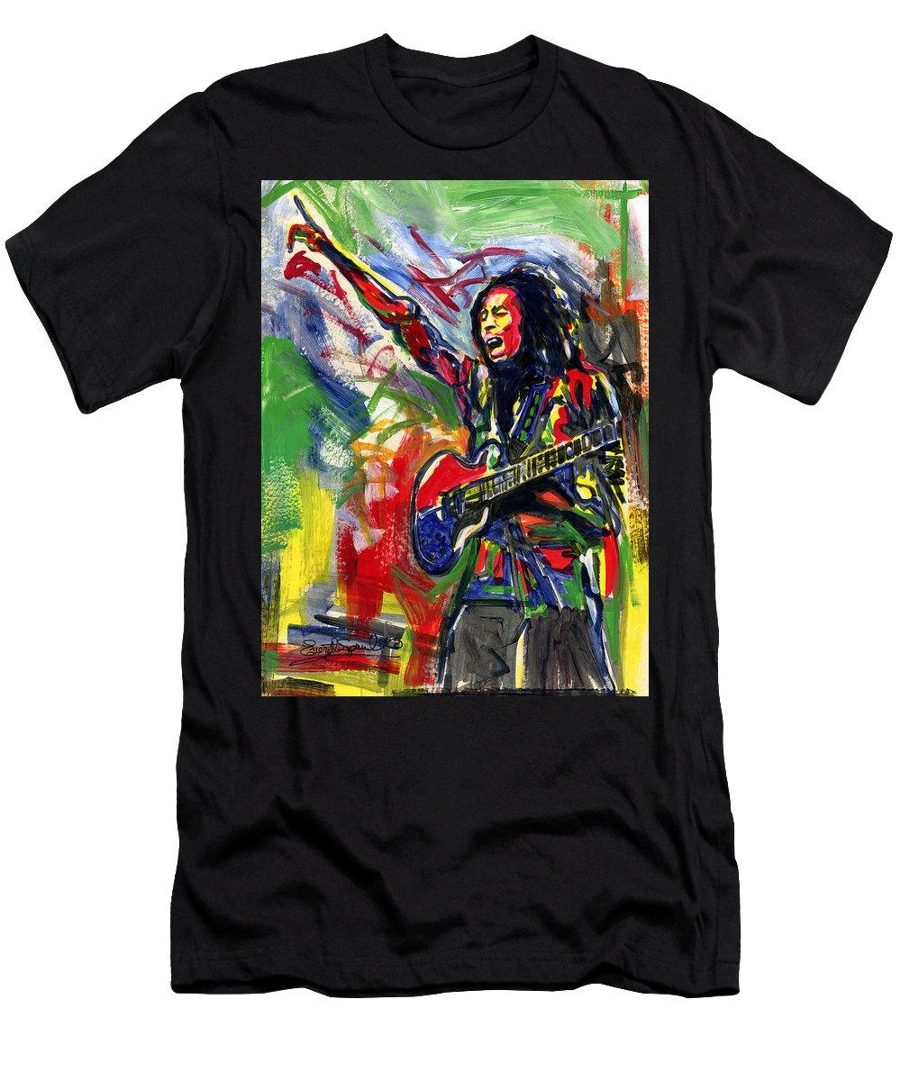 Everett Spruill T-Shirt featuring the painting Bob Marley 2 by Everett Spruill