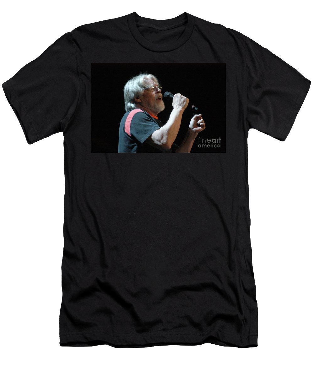 Bob Seger Men's T-Shirt (Athletic Fit) featuring the photograph Bob Seger 3689 by Gary Gingrich Galleries