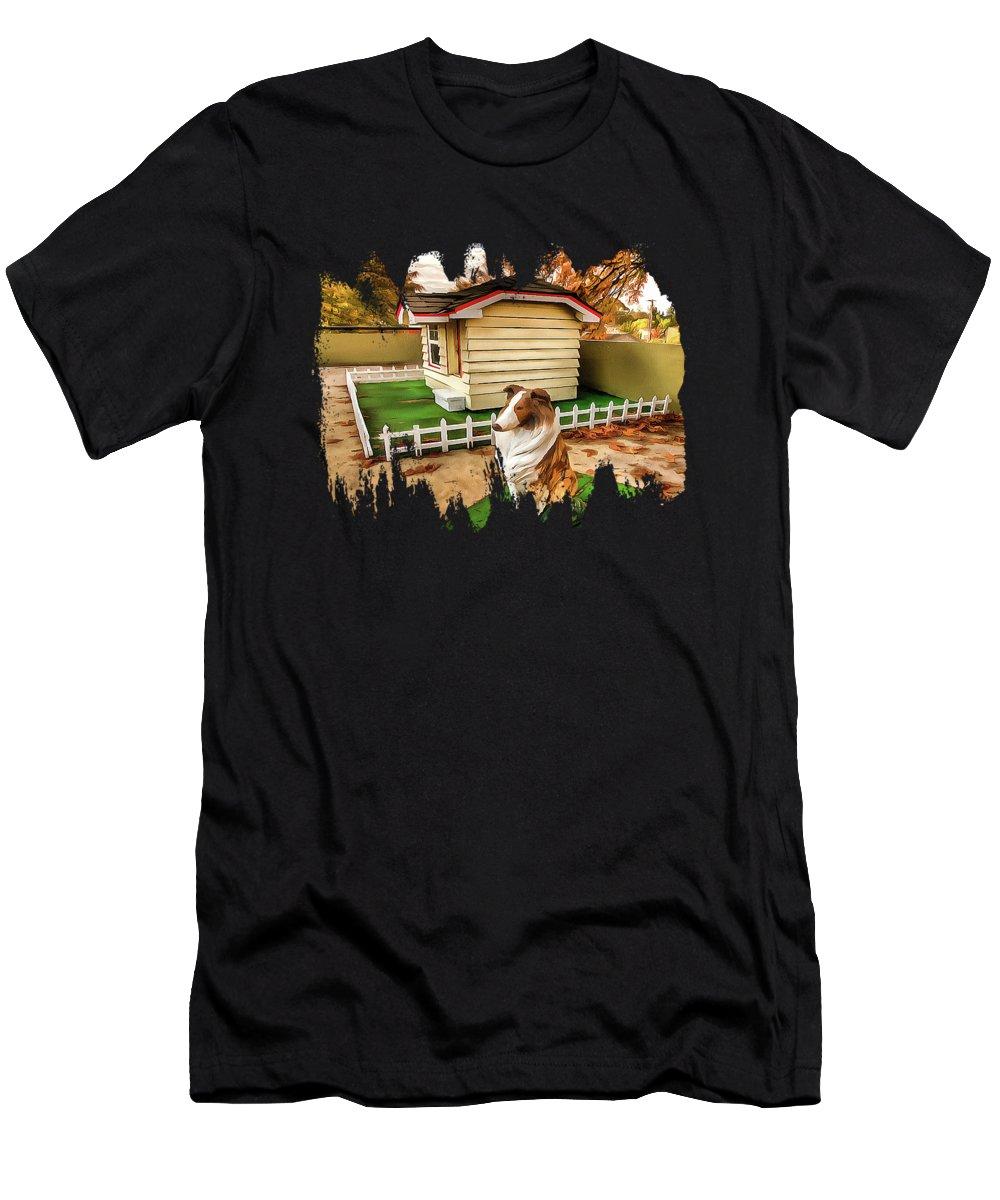Bobbie The Wonder Dog Men's T-Shirt (Athletic Fit) featuring the photograph Bobbie The Wonder Dog by Thom Zehrfeld