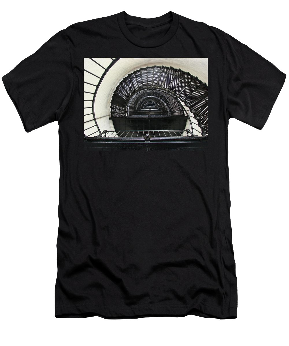 Bodie Lighthouse Men's T-Shirt (Athletic Fit) featuring the photograph Bodie Lighthouse Nags Head Nc Iv by Brett Winn