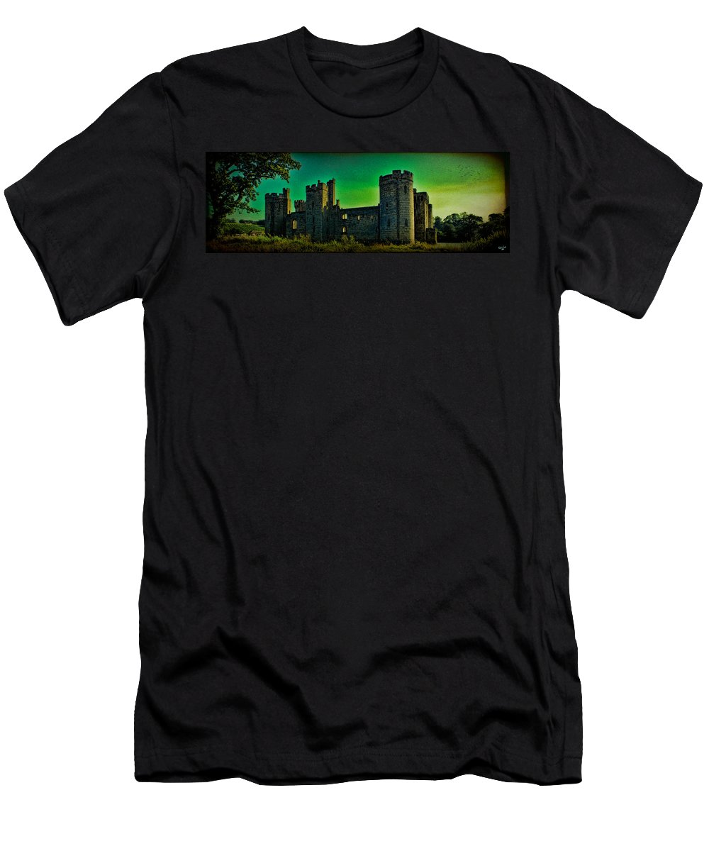 Bodium Men's T-Shirt (Athletic Fit) featuring the photograph Bodium Castle Panorama by Chris Lord