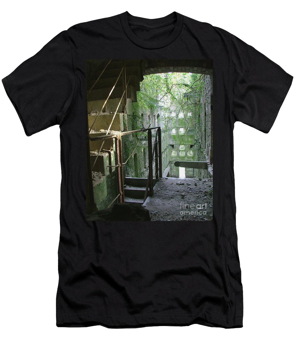 England Men's T-Shirt (Athletic Fit) featuring the photograph Bodmin Gaol Cornwall England by Heather Lennox