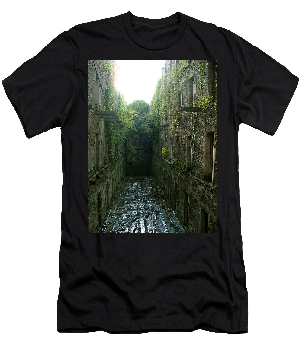 Bodmin Men's T-Shirt (Athletic Fit) featuring the photograph Bodmin Gaol by Heather Lennox