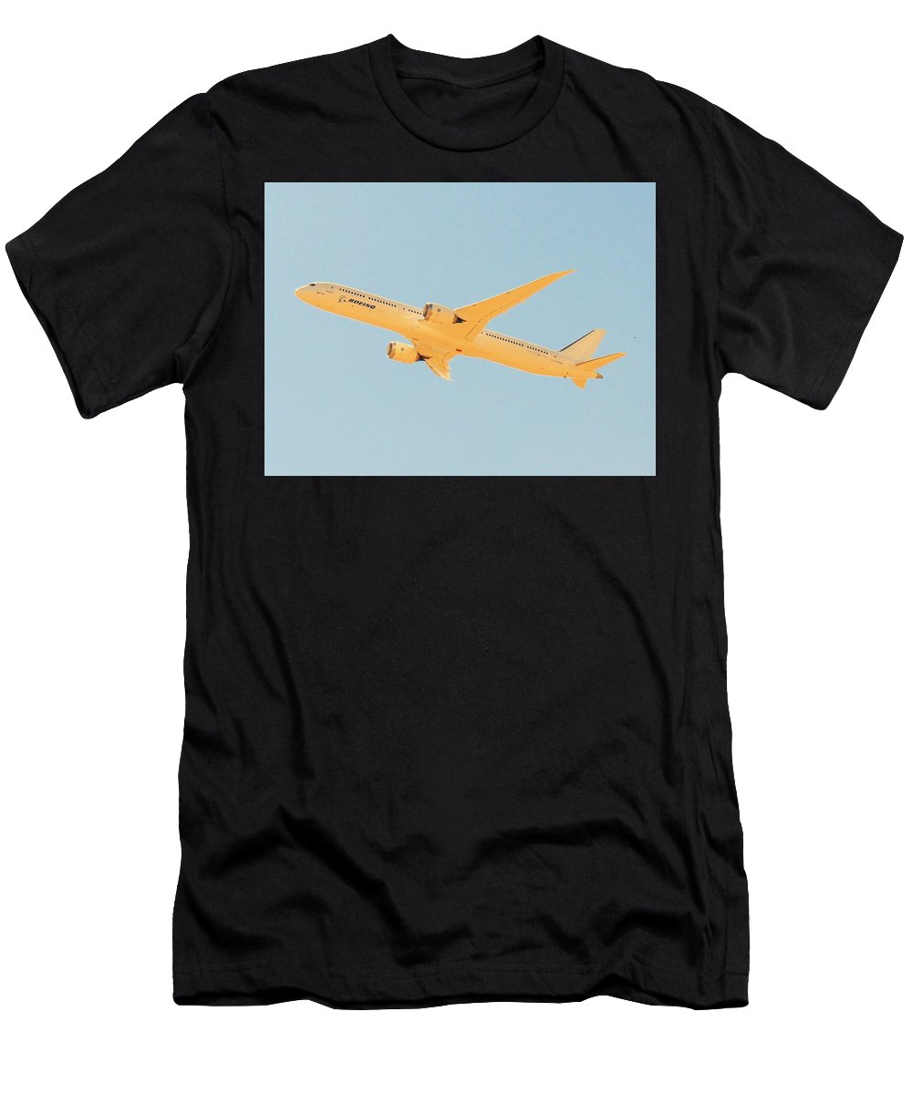 Aircraft Men's T-Shirt (Athletic Fit) featuring the photograph Boeing 787-10 Experimental by Carl Miller